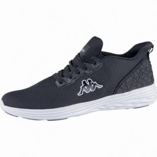 Kappa Paras modische Herren Mesh Synthetik Sneakers black white, Kappa Fußbett, 4239105