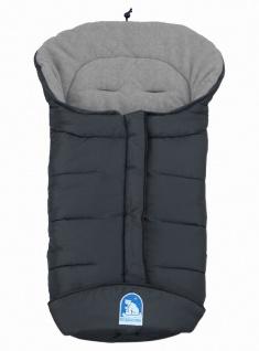 molliger Baby Winter Fleece Fußsack grau, voll waschbar, für Kinderwagen, Bug...