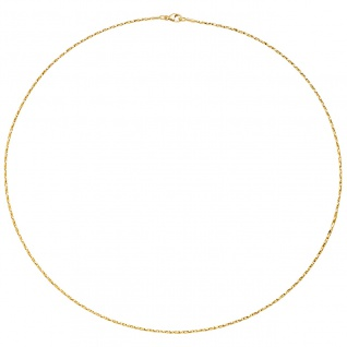 Halsreif Halskette 750 Gold Gelbgold diamantiert 1, 0 mm 42 cm Kette Goldkette