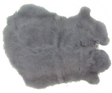 Kaninchenfelle blaugrau gefärbt, ca. 30x30 cm, Felle vom Kaninchen mit seidig...