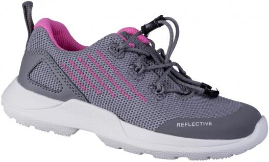 SUPERFIT Mädchen Synthetik Sneakers hellgrau, mittlere Weite, Superfit Decksohle
