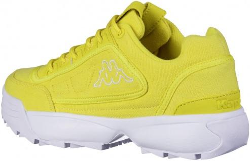 KAPPA Rave Sun coole Damen Canvas Sneaker yellow, herausnehmbare Decksohle - Vorschau 3
