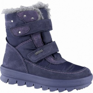 Superfit Mädchen Winter Leder Tex Boots blau, molliges Warmfutter, warmes Fußbett, mittlere Weite, 3741137/33