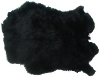 Kaninchenfelle schwarz gefärbt, ca. 30x30 cm, Felle vom Kaninchen mit seidige...
