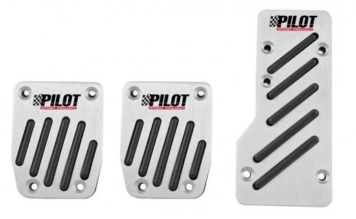 LAMPA RACE 2 Universal PKW, Auto Aluminium Sportpedalen, Fußpedalen Set schwa...