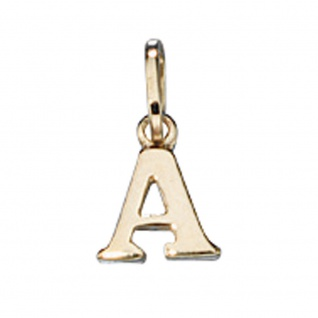 Anhänger Buchstabe A 333 Gold Gelbgold Buchstabenanhänger