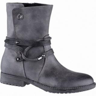Marco Tozzi Mädchen Winter Synthetik Stiefel grey, 17 cm Schaft, Warmfutter, warme Decksohle, 3741200/35