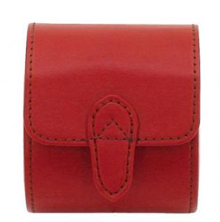 Friedrich Lederwaren Damen Leder Uhrenrolle für 1 Uhr rot, Serie Cordoba, ca. 8, 5x7x9, 5 cm