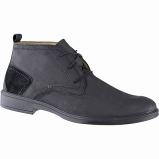 Jomos sportliche Herren Leder Boots schwarz, Lederfutter, herausnehmbares Jomos Fußbett, Luftpolstersohle, 2141142/44
