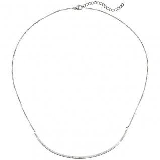 Collier Halskette Kette mit Anhänger aus Edelstahl mit Kristallen 50 cm - Vorschau 2