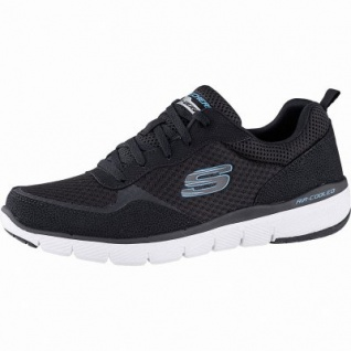 Skechers Flex Advantage 3.0 coole Herren Mesh Sneakers black, Air-Cooled Memory Foam-Fußbett, 4242115/39