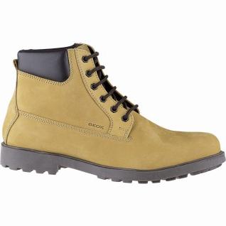 Geox coole Herren Leder Boots biscuit, 11 cm Schaft, Textilfutter, weiches Fu...