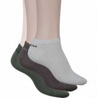 s.Oliver Classic NOS Unisex Sneaker, 3er Pack Damen, Herren Sneaker Socken taupe, linen, olive, 6533114/35-38