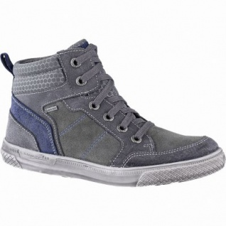 Superfit warme Jungen Leder Sneakers grau, mittlere Weite, angerautes Futter, warmes Fußbett, 3741144/34