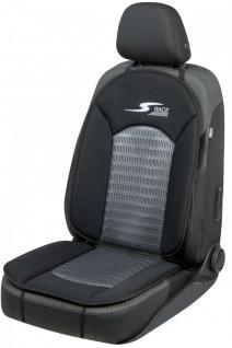 komfortable Universal Polyester Auto Sitzauflage S-Race anthrazit, 12 mm Scha...