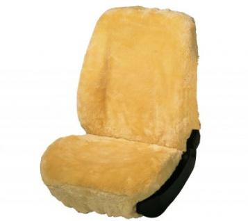Universal Autositzfelle beige für alle PKW, zum kompletten überspannen, Merino Lammfell Sitzbezug mit Kunstpelz