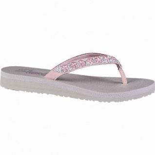 Skechers Meditation Daisy delight coole Damen Synthetik Pantoletten rose, weiches Yoga Foam-Fußbett, 1442156/36