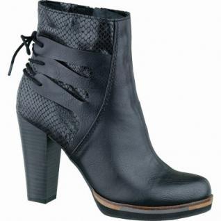 Marco Tozzi stylische Damen Synthetik High Stiefel schwarz antik, leichtes Warmfutter, weiche Decksohle, 1637168