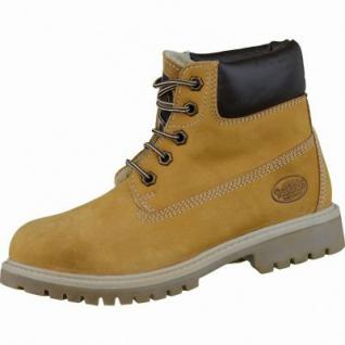 Dockers coole Jungen Leder Winter Boots golden tan, Warmfutter, Profilsohle, 3737112