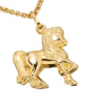 Kinder Anhänger Pferd 333 Gold Gelbgold Pferdeanhänger Kinderanhänger