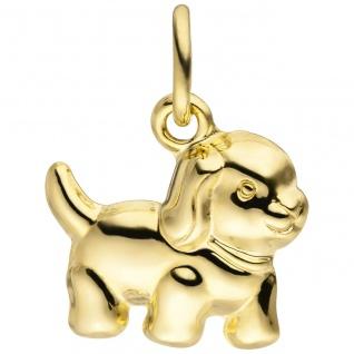 Anhänger Hund 333 Gold Gelbgold Goldanhänger Hundeanhänger