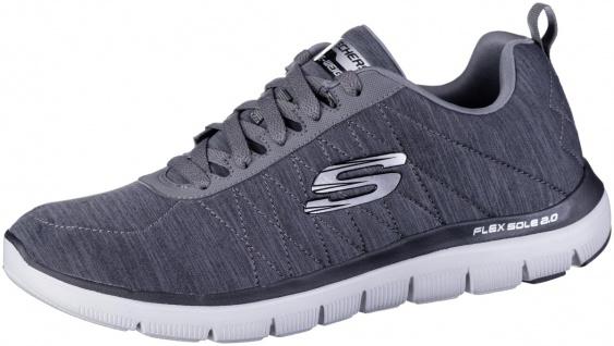 SKECHERS Flex Advantage 2.0 Herren Jersey Sneakers charcoal, weiches Memory F...
