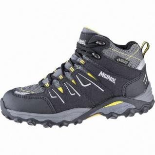 Meindl Alon Junior Mid GTX Jungen Leder Trekking Schuhe anthrazit, Air-Active Best-Fit-Fußbett, 4441120