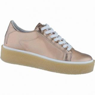 SPM modische Damen Leder Plateau Sneakers blush magnesio, metallisierendes Leder, Lederdecksohle, 1238115/36