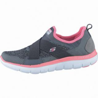 Skechers New Image coole Damen Mesh Sneakers charcoal coral, Air-Cooled-Memory-Foam-Fußbett, 4238135/41