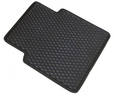Universal Auto Gummimatten Randwaben schwarz hinten 41x37 cm, Anti Slip, ruts...