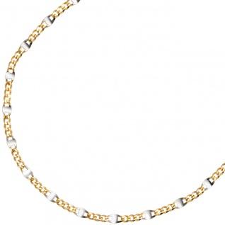 Steg-Panzerkette 333 Gelbgold massiv 2 mm 45 cm Gold Kette Halskette Goldkette