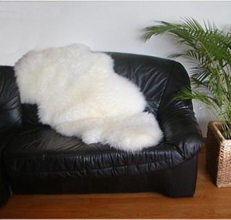 australische Doppel Lammfelle aus 1, 5 Fellen naturweiß, voll waschbar, ca. 140x68 cm