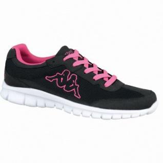 Kappa Rocket modische Damen Mesh Synthetik Sneakers black pink, Sneaker Laufsohle, 4238203/37