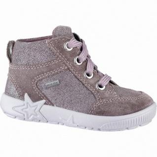 Superfit Mädchen Leder Lauflern Tex Boots lila, mittlere Weite, leichtes Warmfutter, herausnehmbares Fußbett, 3241105/19
