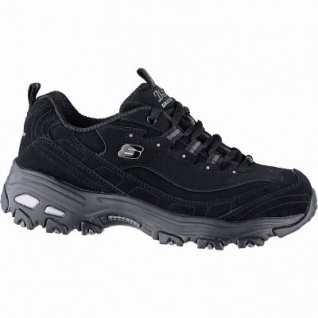Skechers D Lites Play On coole Damen Synthetik Sneakers black, Skechers Air-Cooled Memory Foam-Fußbett, 4241142