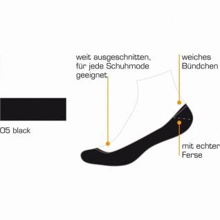 Camano Comfort Footie in Box unisex NOS schwarz, 2er Pack Damen, Herren Footies