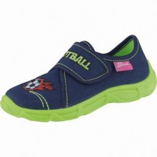 Beck Football Jungen Textil Hausschuhe dunkelblau, anatomisches Fußbett, 3838102/25