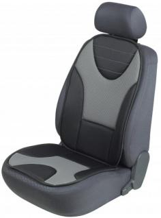 extra weicher Universal Auto Sitzaufleger Grafis grau, hohes Rückenteil, 9 mm Schaumstoff, waschbar, PKW Sitzschoner