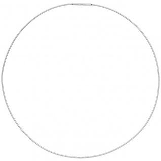 Halsreif Edelstahl 1, 0 mm 42 cm Halskette Kette - Vorschau 3