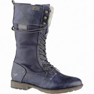Mustang Mädchen Synthetik Winter Tex Stiefel navy, Warmfutter, warme Decksohle, 3739218/31