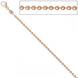 Kugelkette 585 Rotgold 2, 0 mm 50 cm Gold Kette Halskette Rotgoldkette Karabiner