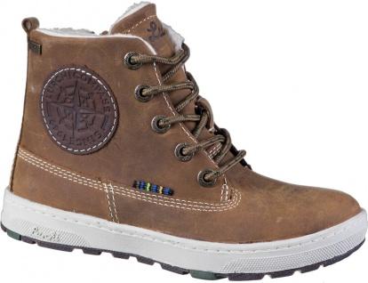 LURCHI Doug Jungen Winter Leder Boots tabacco, breitere Passform, Tex Ausstat...