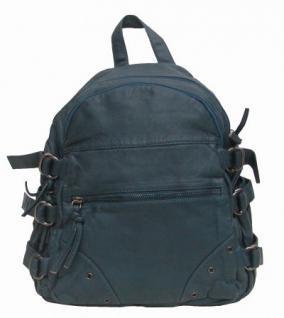 Angel kiss AK1739 blue großer modischer Rucksack taubenblau, 2 Hauptfächer, 2 Seitentaschen, viele Innenfächer, 32x28x15 cm