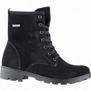 Ricosta Disera Mädchen Winter Leder Tex Boots schwarz, 13 cm Schaft, mittlere Weite, Warmfutter, warmes Fußbett, 3741259/37