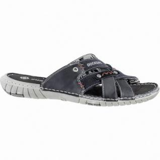 Dockers coole Herren Synthetik Pantoletten schwarz, Dockers Laufsohle, weiches Fußbett, 2440132