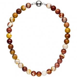 Halskette Kette Mookait 45 cm Mookaitkette Steinkette Edelsteinkette