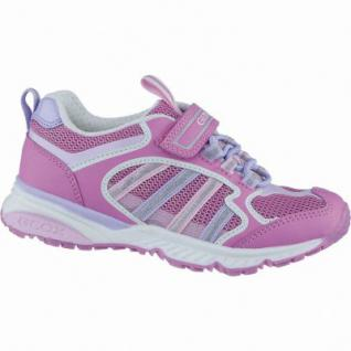 Geox modische Mädchen Synthetik Sneakers fuchsia, Geox Leder Fußbett, 3338141