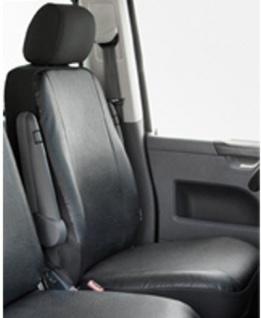 Kunstleder Autositzbezug VW T4 anthrazit waschbar, Einzelsitz vorn, Baujahre 10/90-04/03