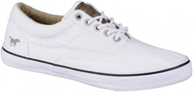 MUSTANG Damen Canvas Sneakers weiß, Textilfutter, softe Decksohle