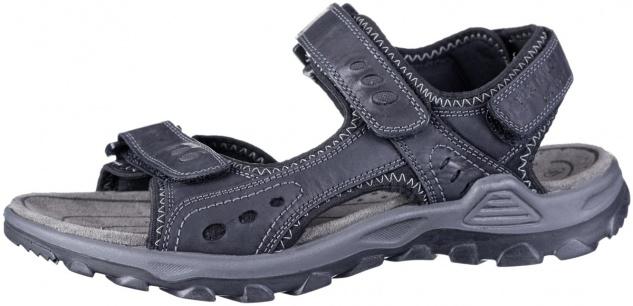 TOM TAILOR Herren Leder Sandalen black, softes Fußbett